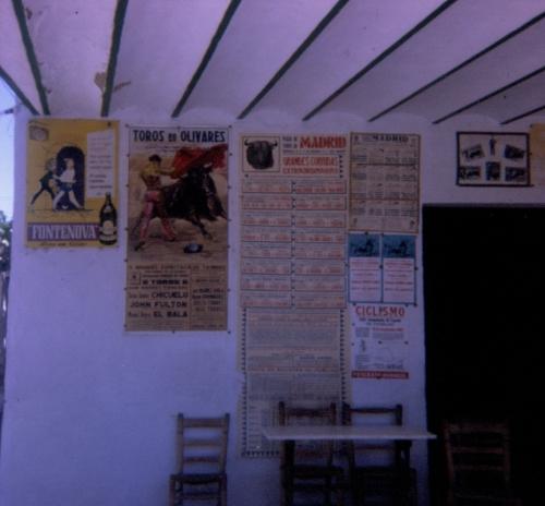 A poster announcing John Fulton's bullfight