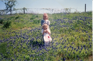 My thoughts turned to the number of times we had taken the girls' picture among the bluebonnets.