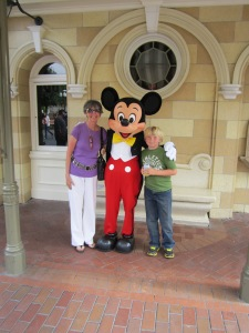 """Oh, and I want a picture with Mickey Mouse."""