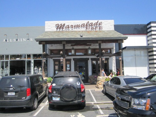 The Marmalade Cafe which is next to GROM which is next to Radio Shack