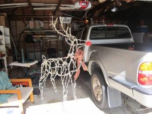 Rudolf in our garage