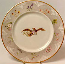 Image from wikipedia.  Plate produced by Castleton China.