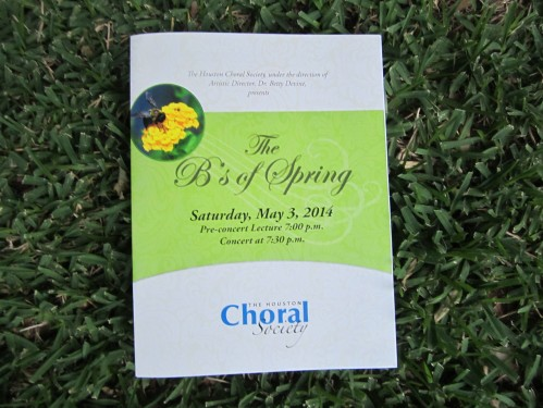 Presented by the Houston Choral Society.