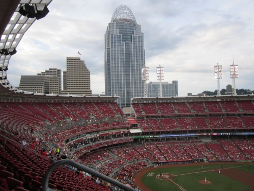 At the Great American Ball Park, Cincinnati Reds Stadium, June, 2014