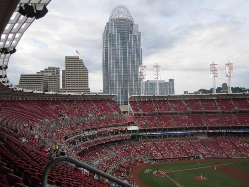 At the Great American Ball Park, Cincinnati Reds Stadium, June, 2014