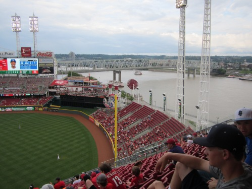 The view of the Ohio River to the right of us.  Wow!