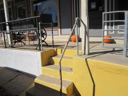 I followed the yellow stairs right into the Cottonwood Cottage Gift Shop.