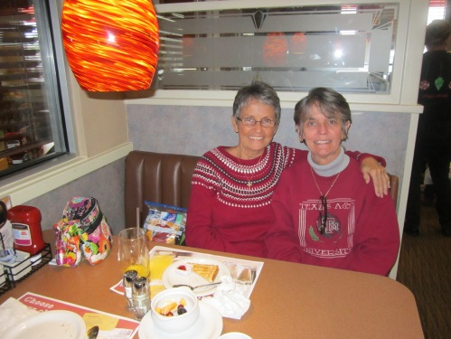 Patrice and me, having our own Christmas breakfast last Wednesday.